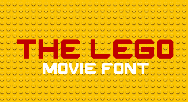 THE LEGO MOVIE font by FontStudio LAB