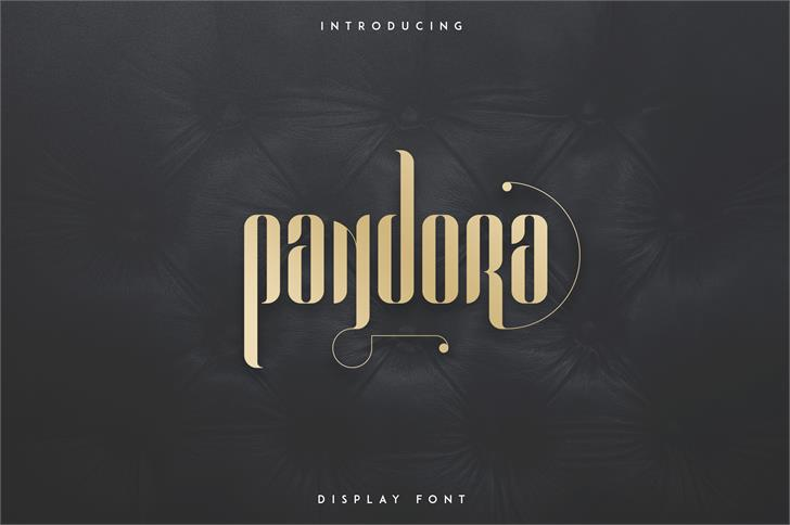 PANDORA DISPLAY FONT design