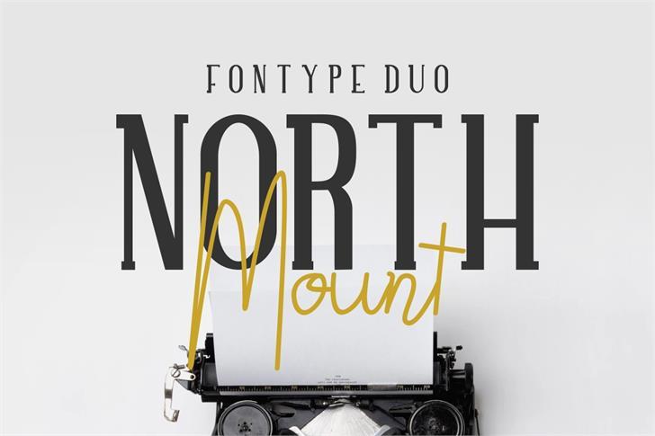 NORTH MOUNT Font design
