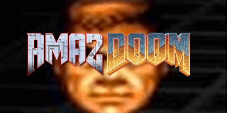 AmazDooM Font screenshot poster