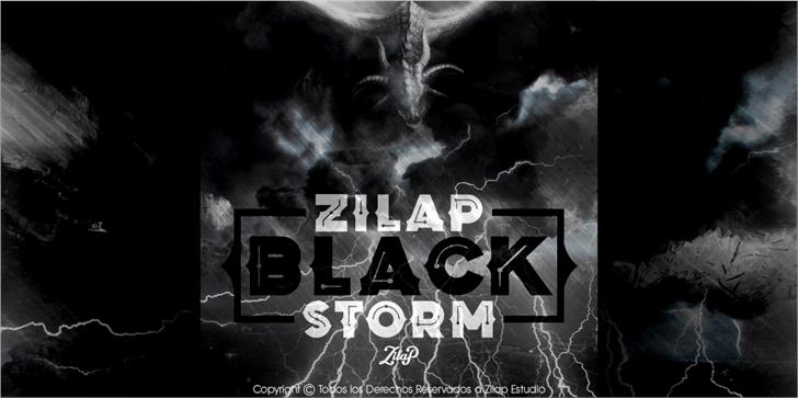 Zilap Black Storm Font screenshot poster