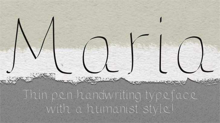 Maria Font handwriting water