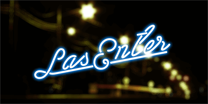 Las Enter Personal Use Only Font outdoor night