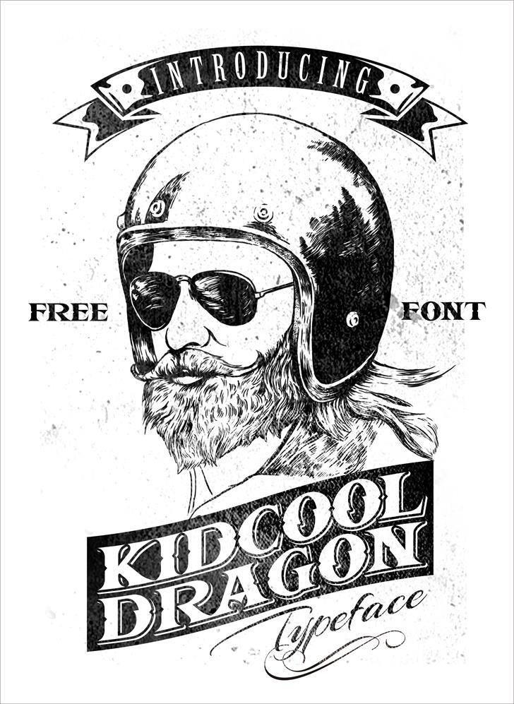 KIDCOOL DRAGON font by KIDCOOL
