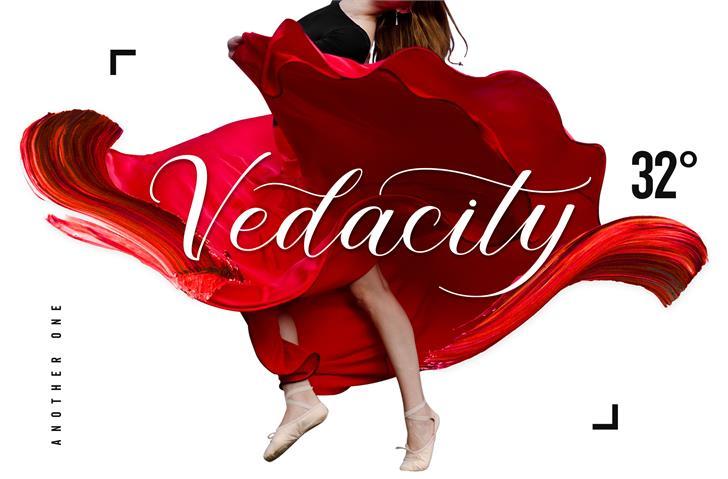 Vedacity DEMO Font dance poster