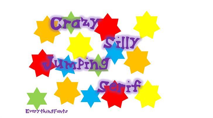 CrazySillyJumpingSerif Font creativity art