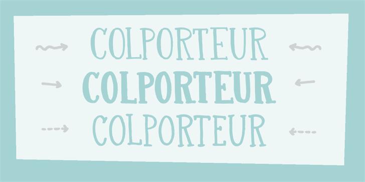 DK Colporteur Fat Font typography design