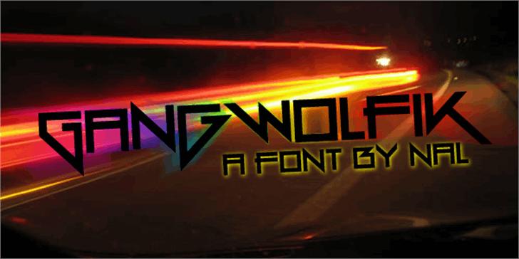 Gang Wolfik Font screenshot light