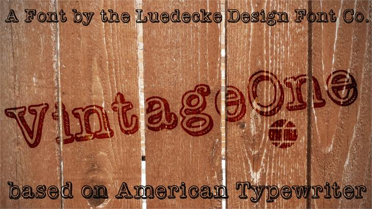 VintageOne font by Jake Luedecke Motion & Graphic Design