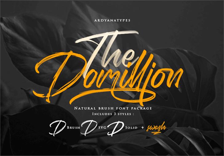 Domillion Brush Free Font design typography