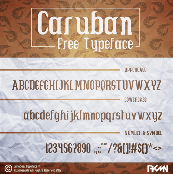 Caruban Font screenshot text