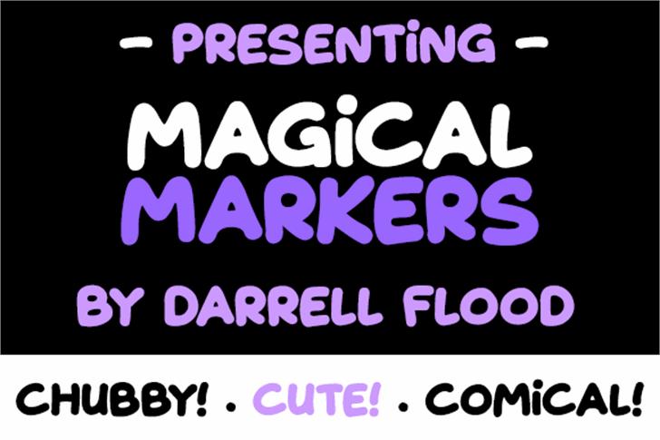 Magical Markers Font screenshot graphic