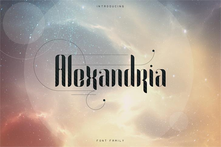 Alexandria font by vladfedotovv