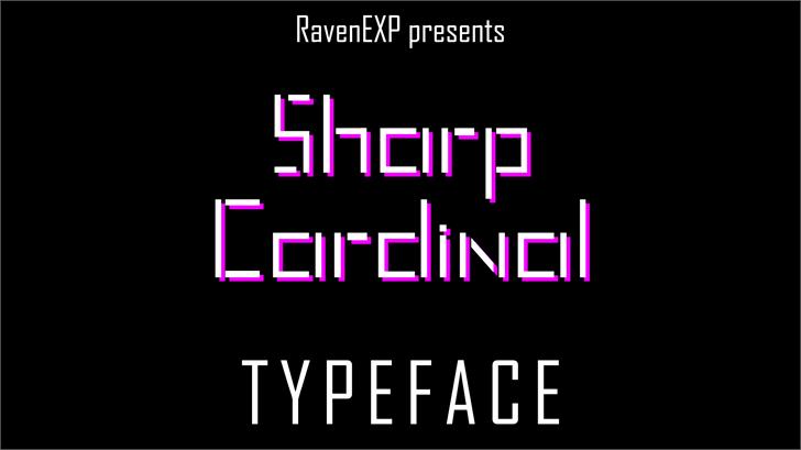 Sharp Cardinal Font design