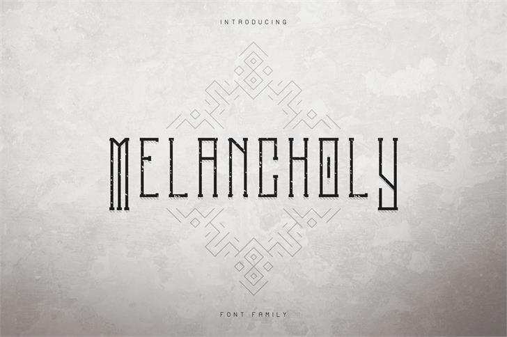 MELANCHOLY DISPLAY TYPEFACE Font design
