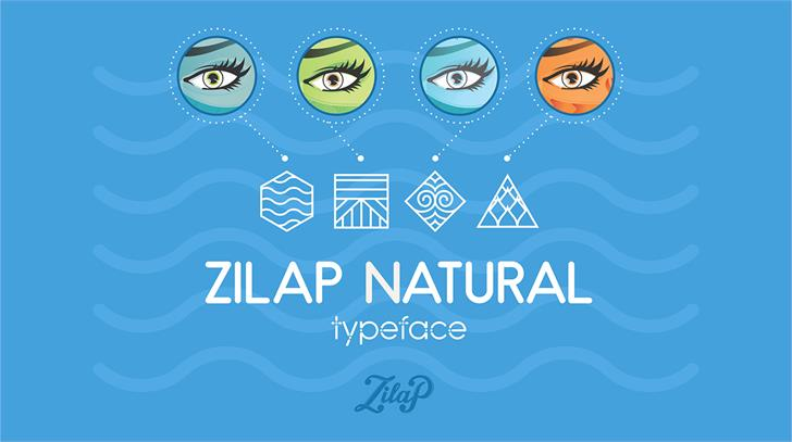 Zilap Natural Font cartoon screenshot