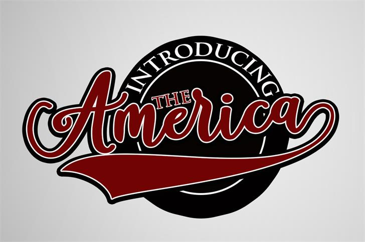 America Font design cartoon