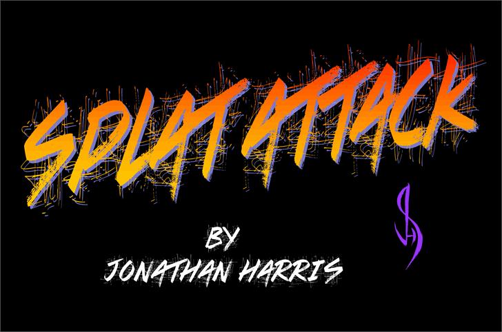 Splat Attack Font design