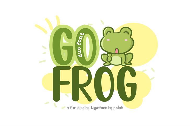 Go Frog Font cartoon design