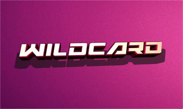 Wildcard Font design magenta