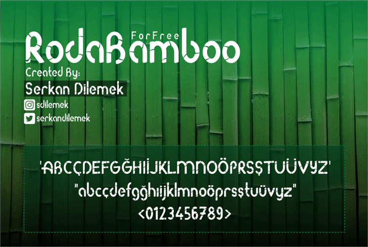 Roda Bamboo Font screenshot text