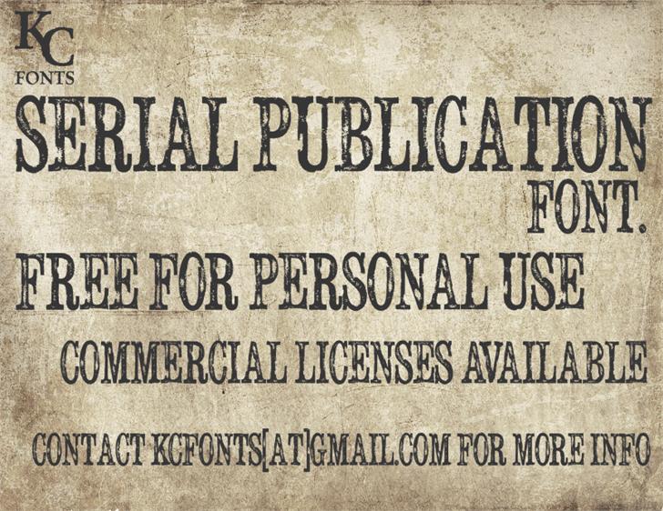 Serial Publication font by KC Fonts