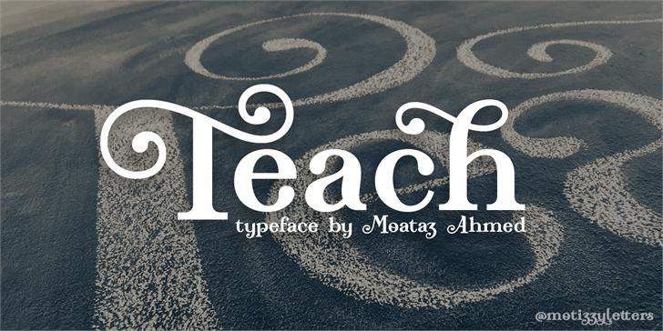 Teach Demo Font screenshot