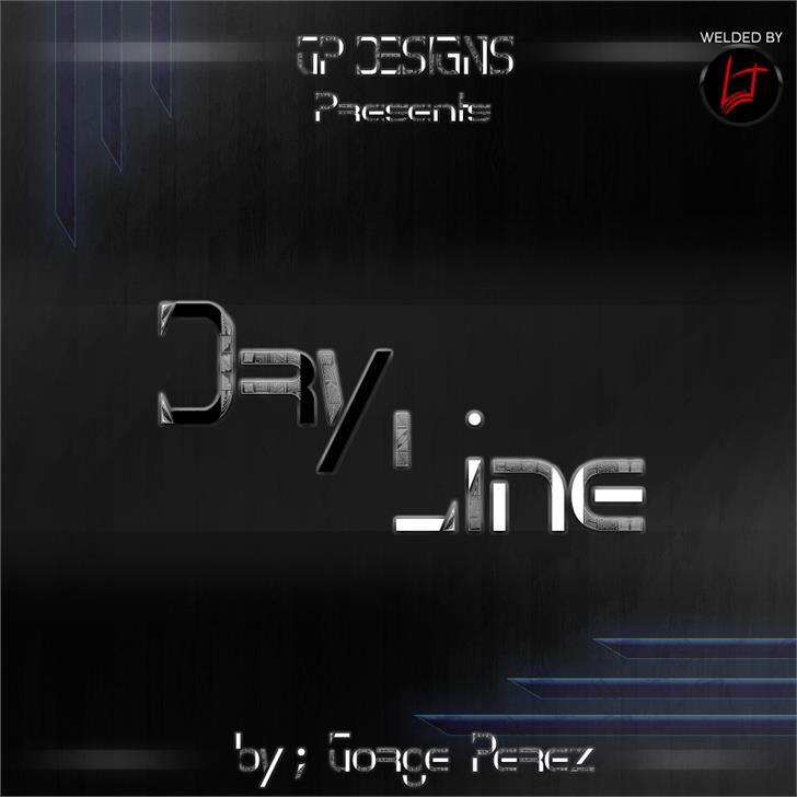 Dry Line font by LJDS