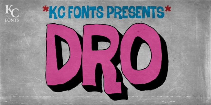 Dro DEMO Font drawing cartoon