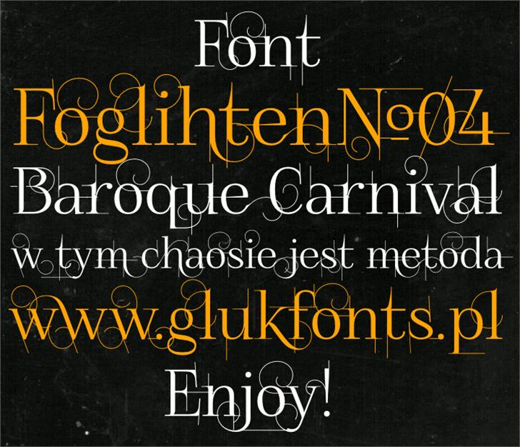 FoglihtenNo04 Font text book