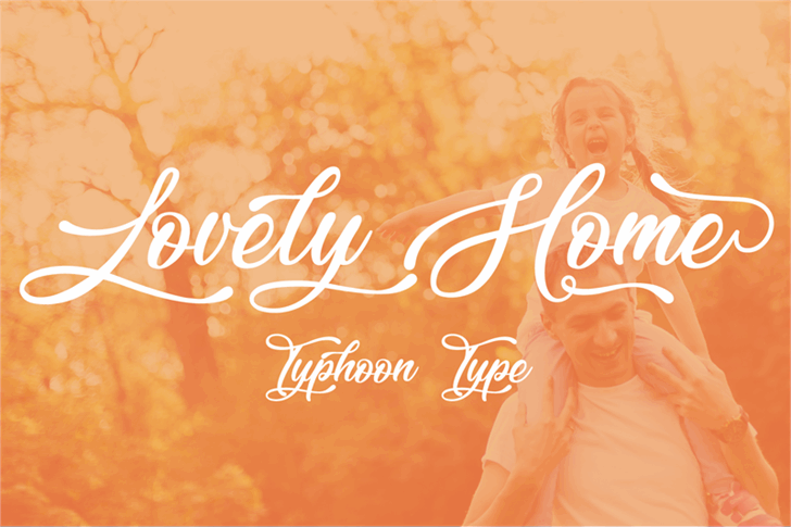 Lovely Home Font design graphic