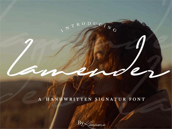 Lamender Font poster