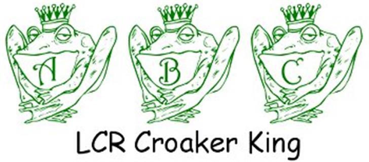 LCR Croaker King Font cartoon drawing