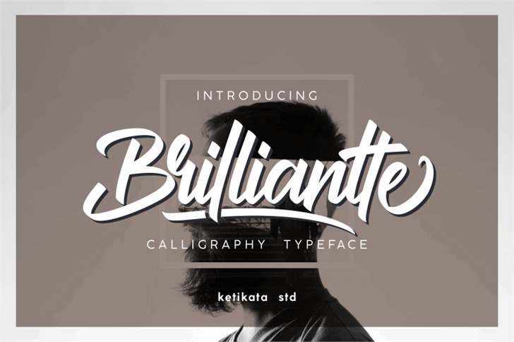 Brilliantte Presonal Use Only Font design typography