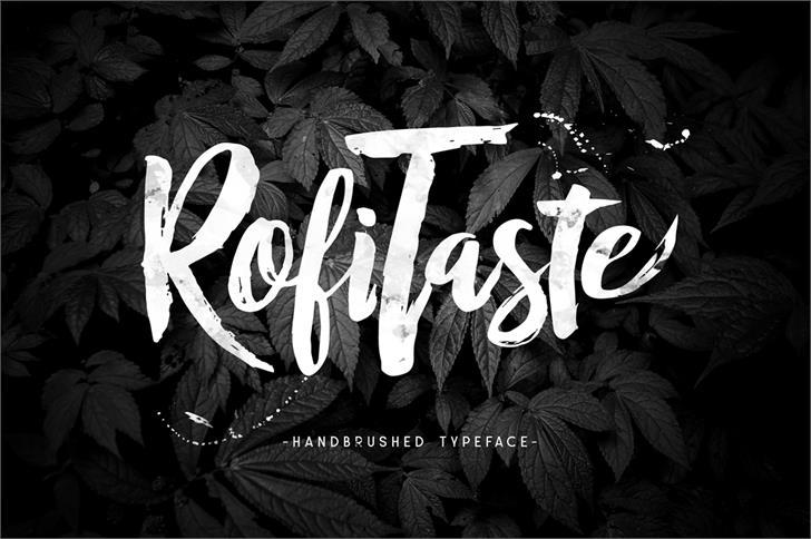 RofiTaste Font handwriting black and white