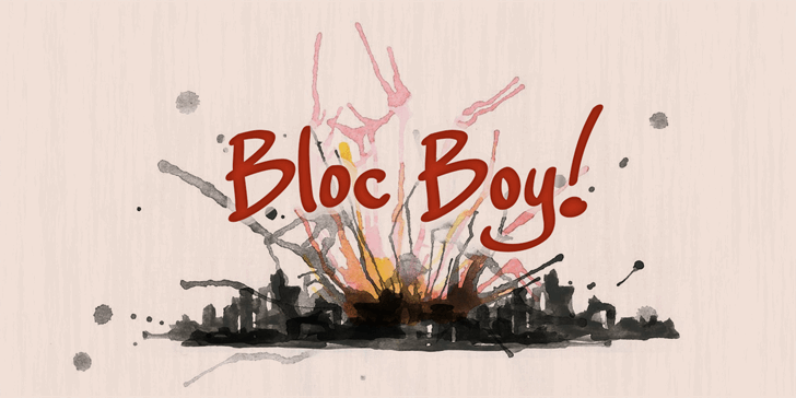 Bloc Boy PERSONAL USE ONLY Font text poster