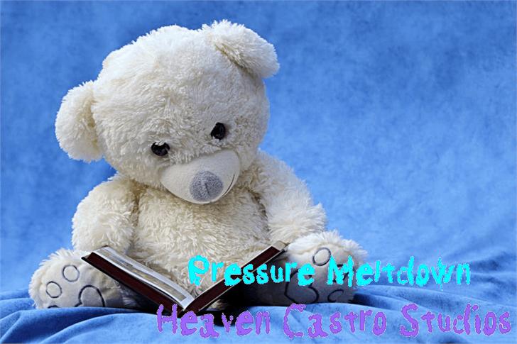 Pressure Meltdown Font toy teddy bear