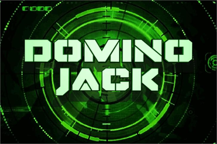 Domino Jack Font art geometry