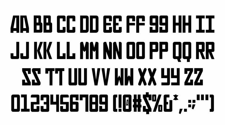 In Soviet Russia Regular Font Letters Charmap