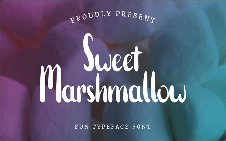 Sweet Marshmallow Font poster