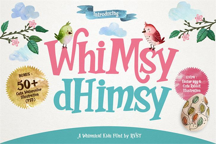 Whimsy Dhimsy font by RenovRVST