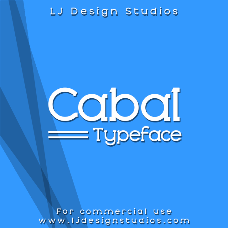 Cabal Font screenshot design