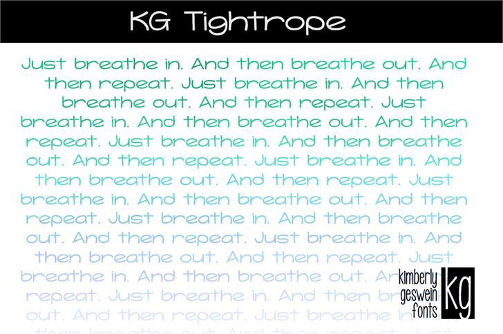 KG Tightrope Font text screenshot