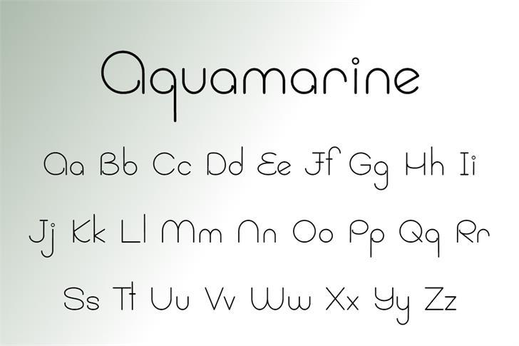 Aquamarine Font poster