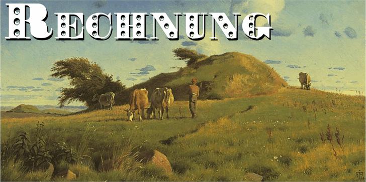 Rechnung Font grass outdoor