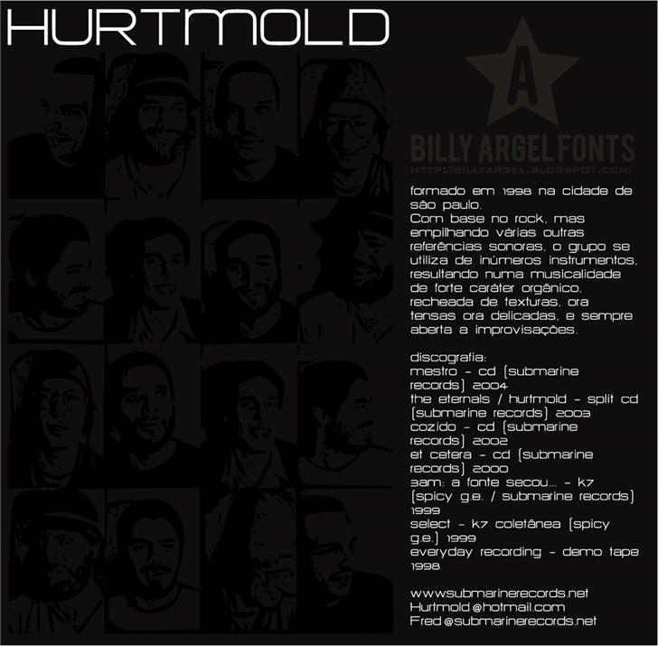 HURTMOLD_ Font human face poster