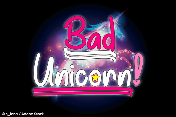 Bad Unicorn DEMO Font design graphic