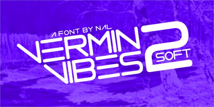 Vermin Vibes 2 Soft Font design light