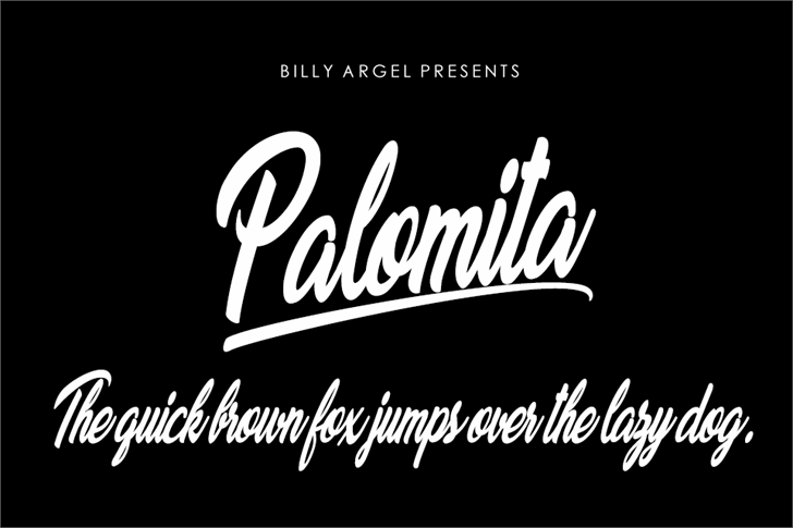Palomita Personal Use Font design typography