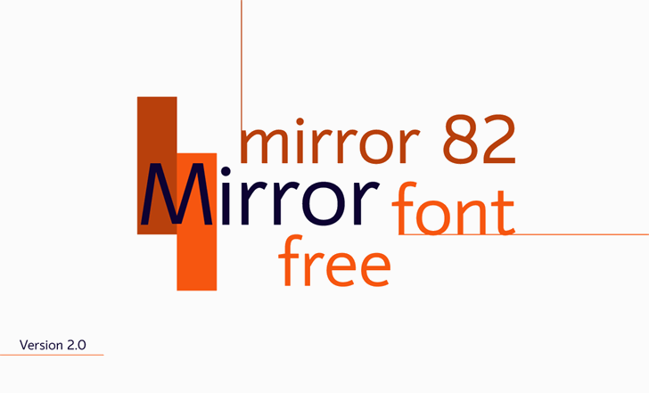 mirror 82 Font design screenshot